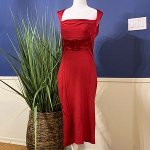 BeBe red 50s style dress. Size medium
